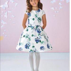 Girls Joan Calabrese Mikado Dress
